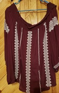 Lucky Brand top size XXL off shoulder